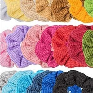Accessories - Waffle Cotton Scrunchies 3 for $10